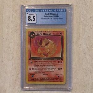 Dark Flareon 1st Edition Pokémon 35/82 CGC 8.5